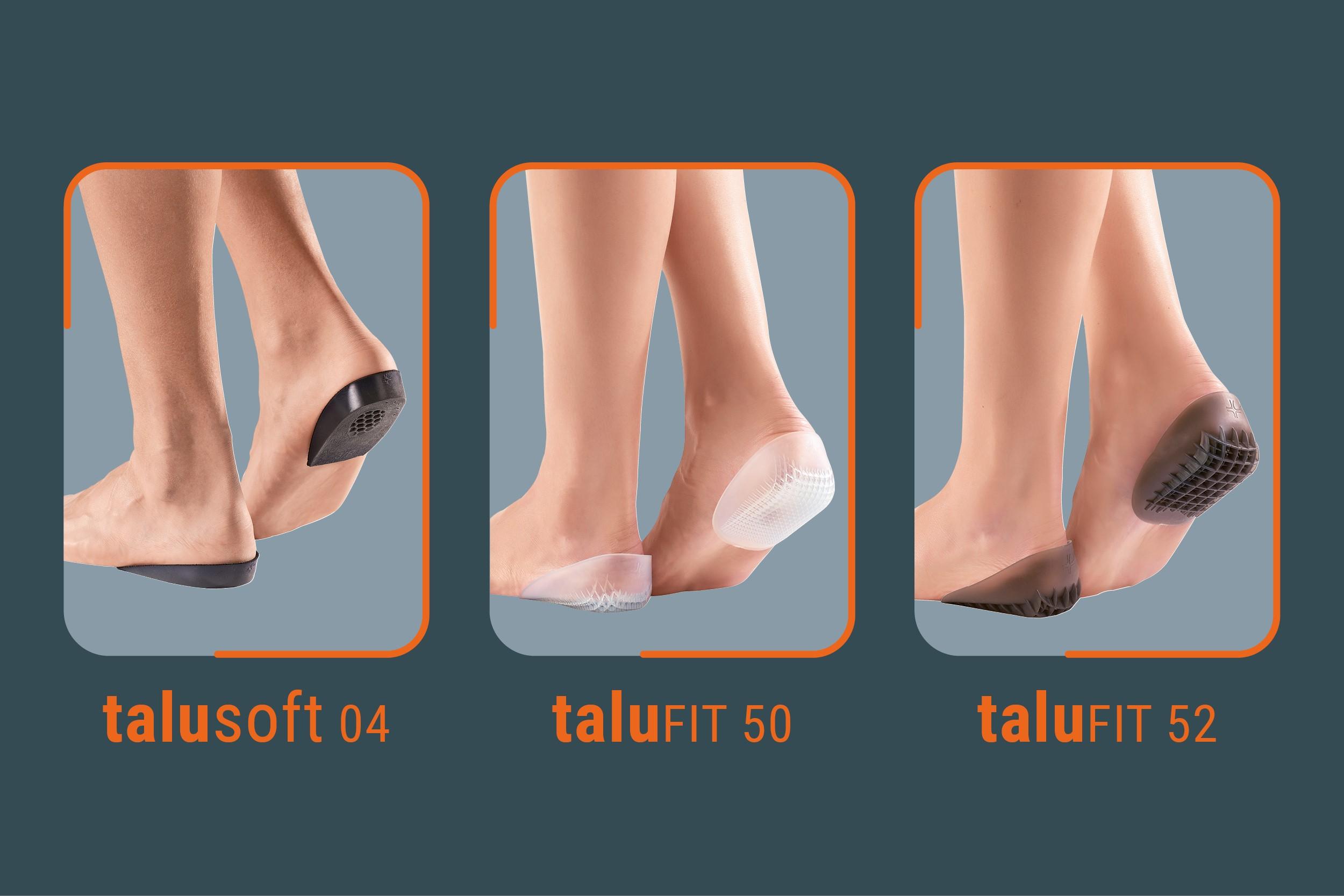 Das Wohlbefinden des Fußes beginnt an der Ferse