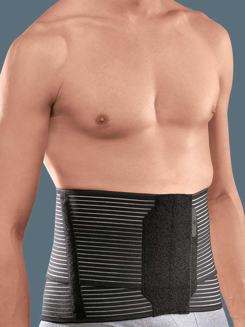LINEAR70 - Low elastic orthosis with a  thermoformable pad to stabilize the lumbar rachis and relieve pressure