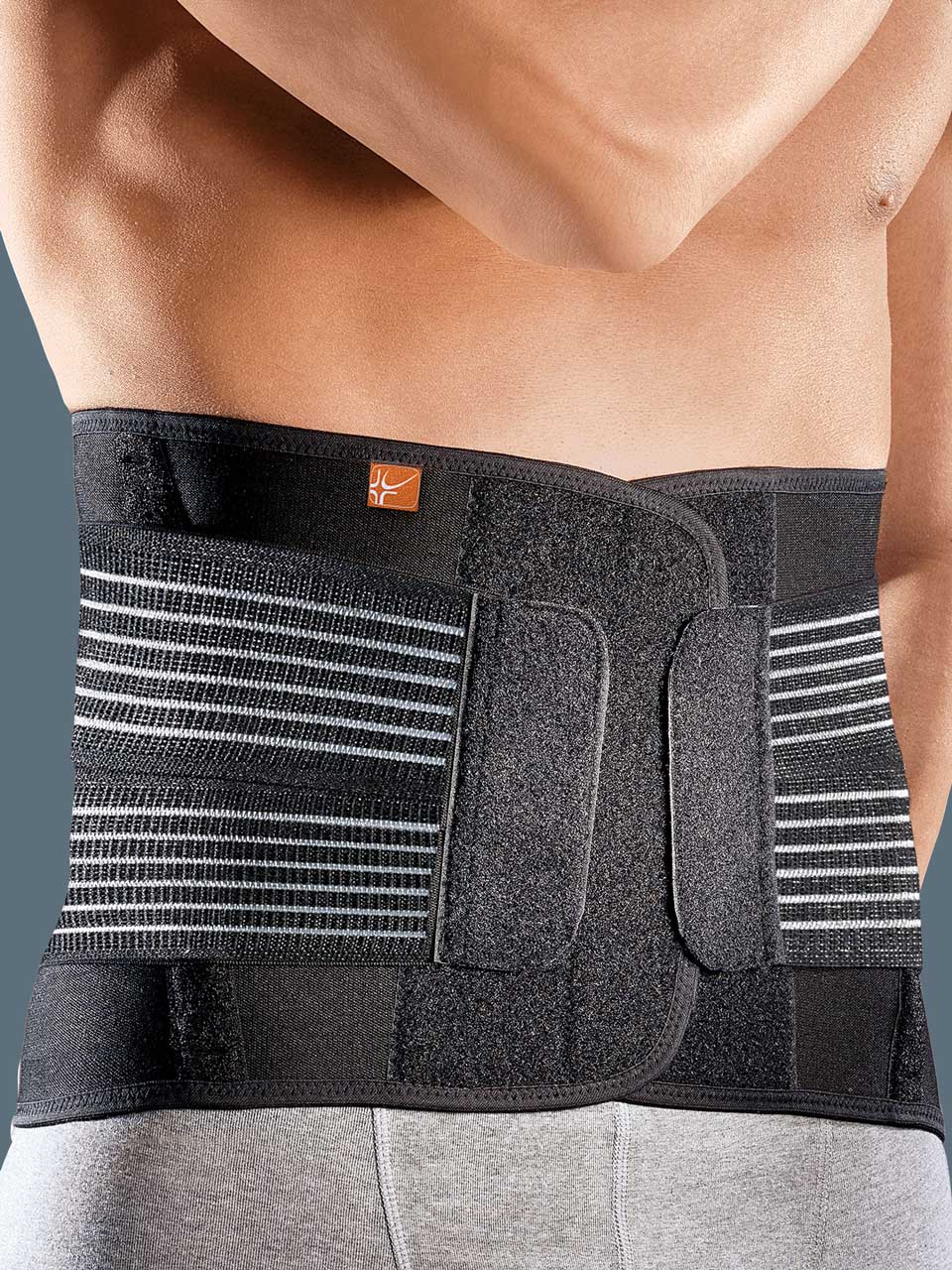 Lumbofit70 -  Low elastic lumbar orthosis with a  thermoformable pad