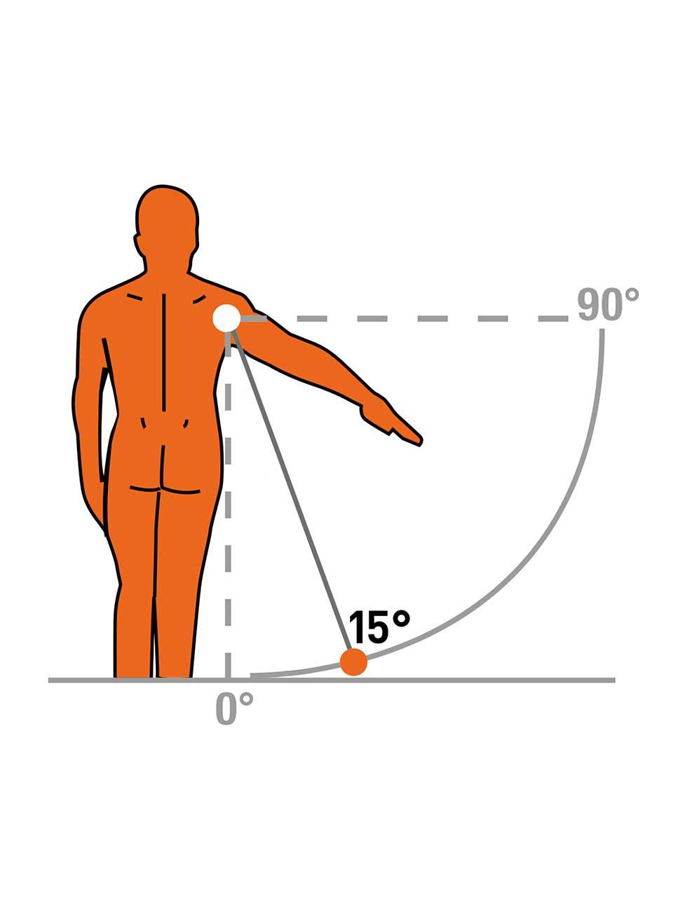 TOP II-S 10°/15° - Shoulder brace