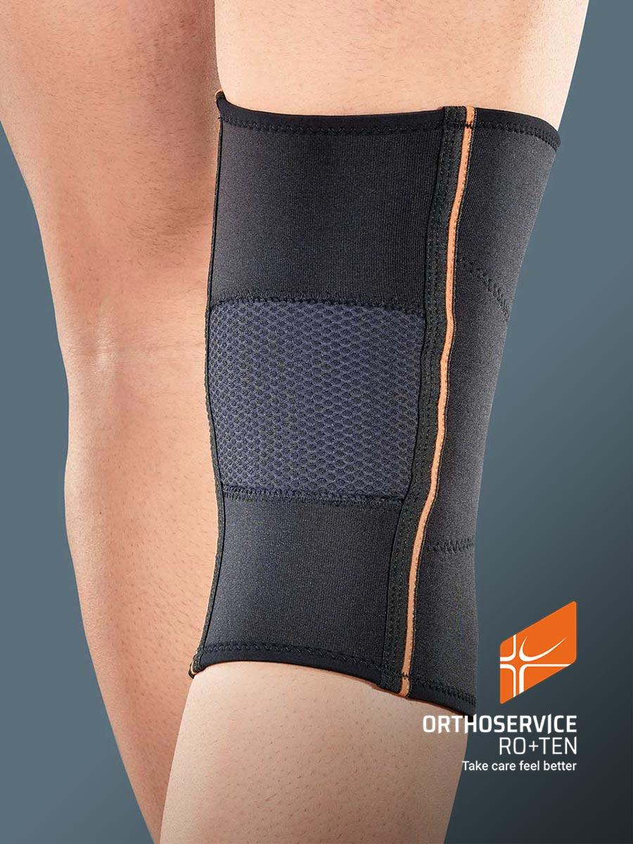 GENUFIT 63 - Short tubular AirX™ knee brace with patella stabilizer
