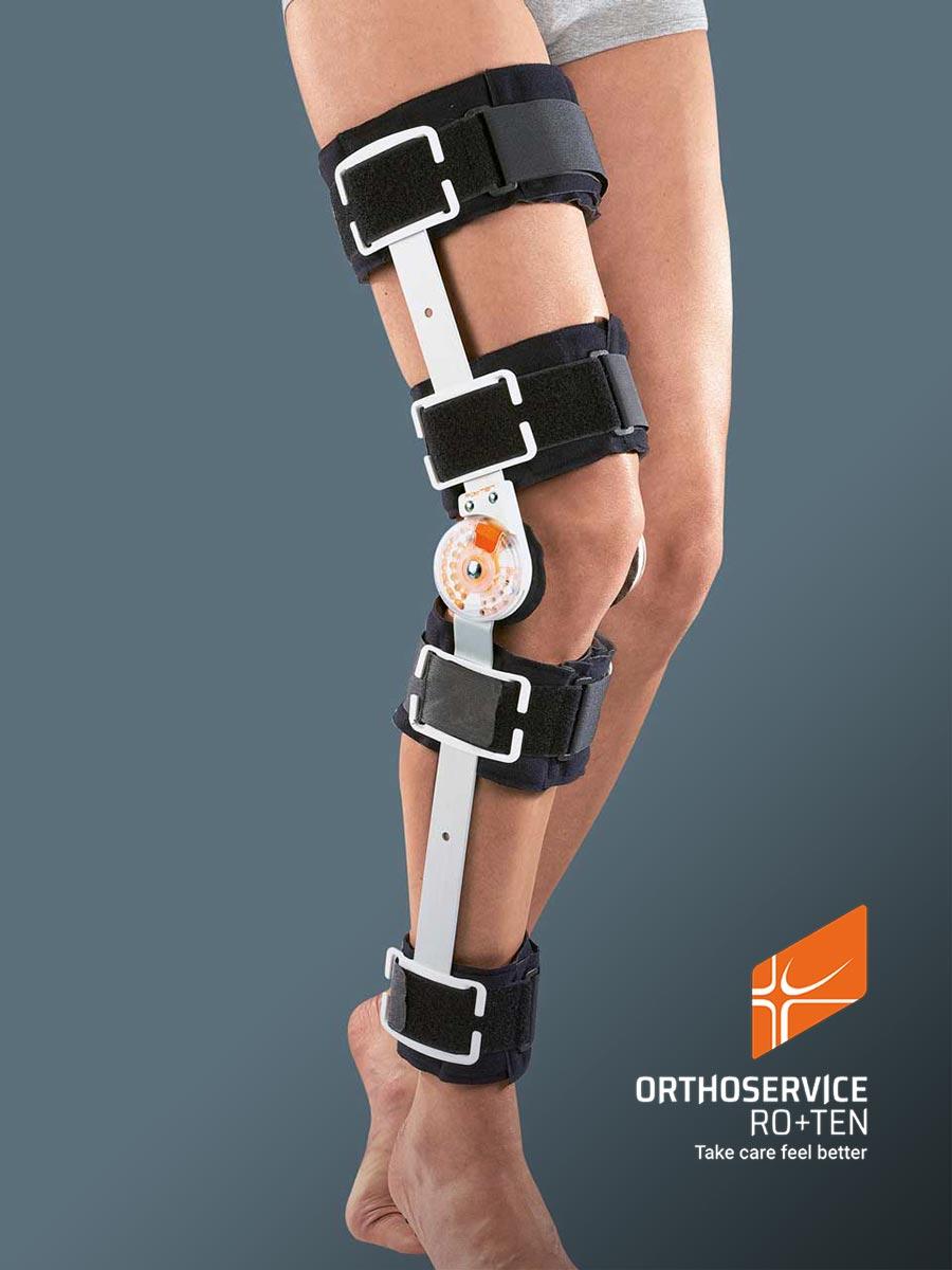 GO UP OPEN - Knieorthese für postoperative stufenweise Bewegungslimitierung, offene Version